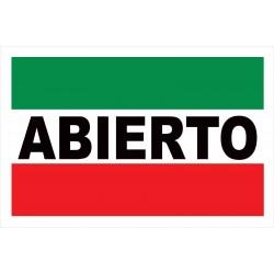 Abierto 2' x 3' Vinyl Business Banner