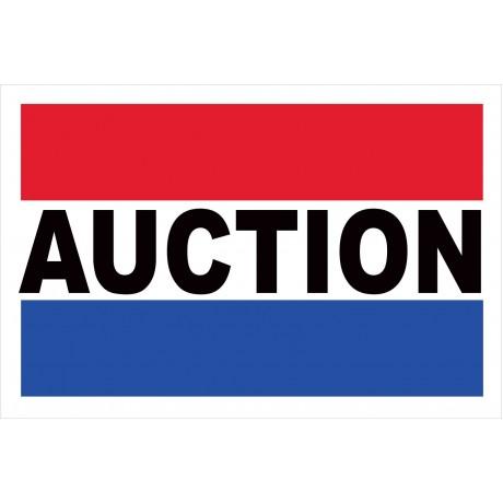 Auction 2' x 3' Vinyl Business Banner