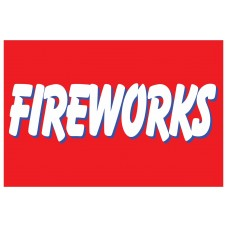 Fireworks Red 2' x 3' Vinyl Business Banner