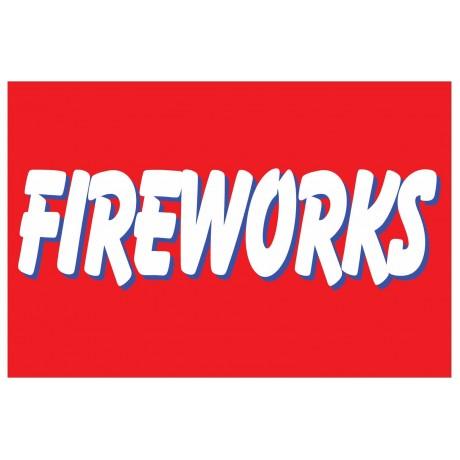 Fireworks Red 2' x 3' Vinyl Business Banner