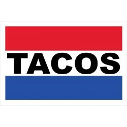 Tacos 2' x 3' Vinyl Business Banner