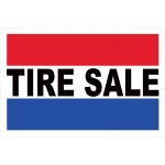 Tire Sale 2' x 3' Vinyl Business Banner