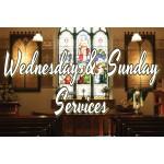 Wednesday & Sunday Services 2' x 3' Vinyl Church Banner