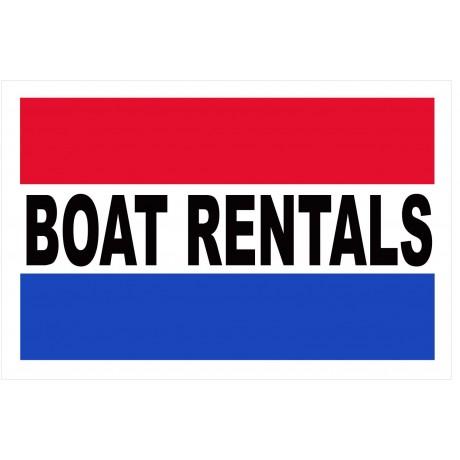 Boat Rentals 2' x 3' Vinyl Business Banner