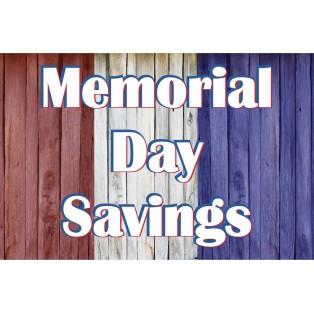 Memorial Day Savings 2' x 3' Vinyl Business Banner