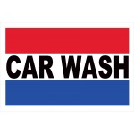 Car Wash Patriotic 2' x 3' Vinyl Business Banner