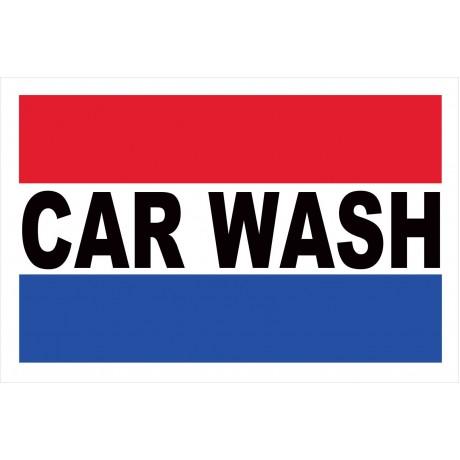 Car Wash Patriotic 2' x 3' Vinyl Business Banner