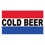 Cold Beer 2' x 3' Vinyl Business Banner