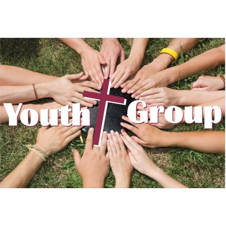 Youth Group 2' x 3' Vinyl Church Banner