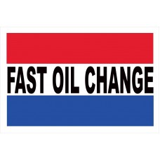 Fast Oil Change 2' x 3' Vinyl Business Banner