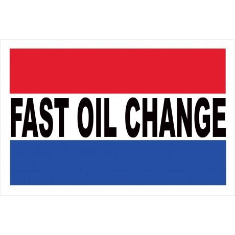 Fast Oil Change 2' x 3' Vinyl Business Banner