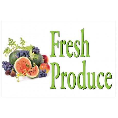 Fresh Fruit Produce 2' x 3' Vinyl Business Banner