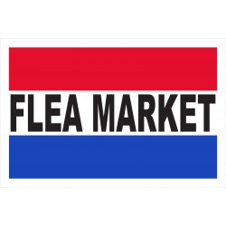 Flea Market 2' x 3' Vinyl Business Banner