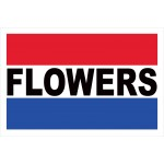 Flowers 2' x 3' Vinyl Business Banner