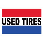 Used Tires 2' x 3' Vinyl Business Banner
