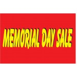 Memorial Day Sale Red & Yellow 2' x 3' Vinyl Business Banner