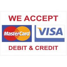 Visa Mastercard 2' x 3' Vinyl Business Banner