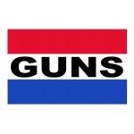 Guns 2' x 3' Vinyl Business Banner