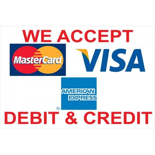 Visa Mastercard AMX 2' X 3' Vinyl Business Banner (BN0075