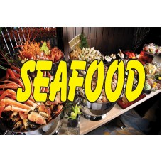 Seafood Wave Shrimp 2' x 3' Vinyl Business Banner
