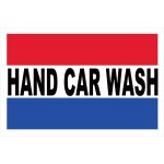 Hand Car Wash 2' x 3' Vinyl Business Banner