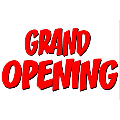 Grand Opening Red Shadow 2' x 3' Vinyl Business Banner