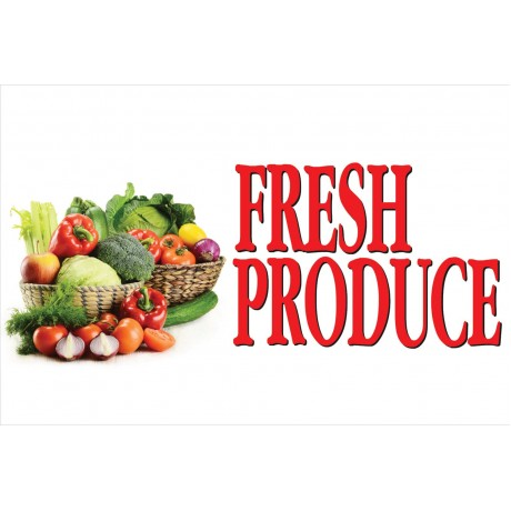 Fresh Veggies Produce 2' x 3' Vinyl Business Banner