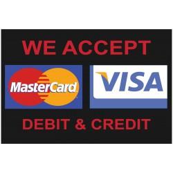 Visa Mastercard Black 2' x 3' Vinyl Business Banner