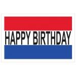 Happy Birthday 2' x 3' Vinyl Banner