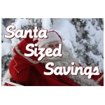 Santa Size Savings 2' x 3' Vinyl Business Banner