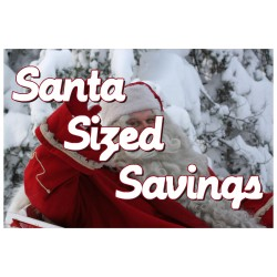 Santa Size Savings 2' x 3' Vinyl Business Banner