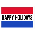 Happy Holidays 2' x 3' Vinyl Business Banner