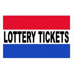 Lottery Tickets 2' x 3' Vinyl Business Banner