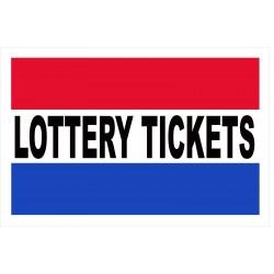 Lottery Tickets 2' x 3' Vinyl Business Banner