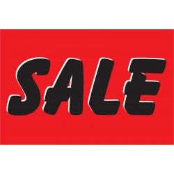 Sale Red & Black 2' x 3' Vinyl Business Banner