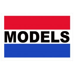 Models 2' x 3' Vinyl Business Banner