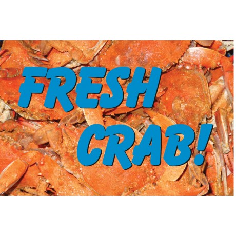 Fresh Crab Gold 2' x 3' Vinyl Business Banner