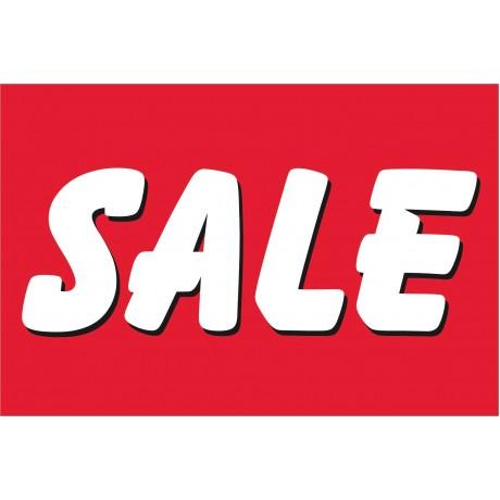 Sale Red & White 2' x 3' Vinyl Business Banner