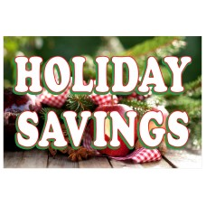 Holiday Savings 2' x 3' Vinyl Business Banner
