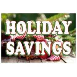 Holiday Savings 2' x 3' Vinyl Business Banner