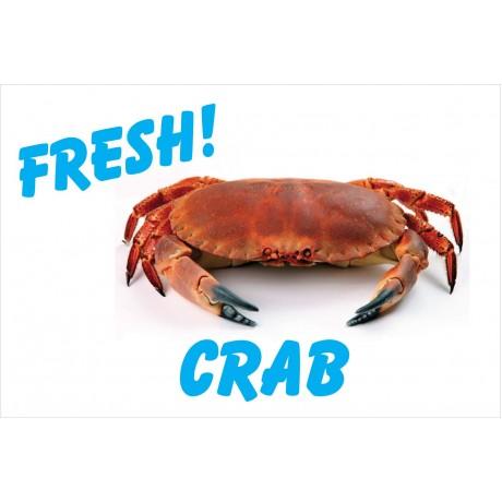 Fresh Crab White 2' x 3' Vinyl Business Banner