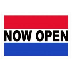 Now Open 2' x 3' Vinyl Business Banner