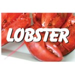 Lobster 2' x 3' Vinyl Business Banner