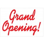 Grand Opening Red Curves 2' x 3' Vinyl Business Banner