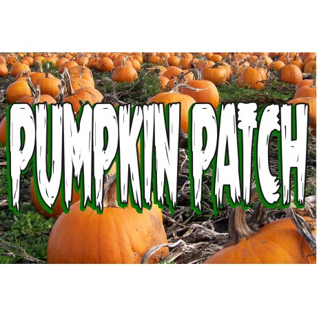 Pumpkin Patch 2' x 3' Vinyl Business Banner