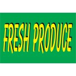 Fresh Produce Green 2' x 3' Vinyl Banner