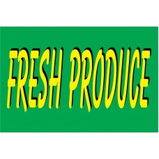 Produce Green & Yellow 2' x 3' Vinyl Business Banner