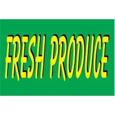 Produce Green & Yellow 2' x 3' Vinyl Business Banner