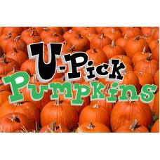 Halloween U Pick Pumpkins 2' x 3' Vinyl Business Banner