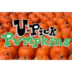 U-Pick Pumpkins 2' x 3' Vinyl Business Banner
